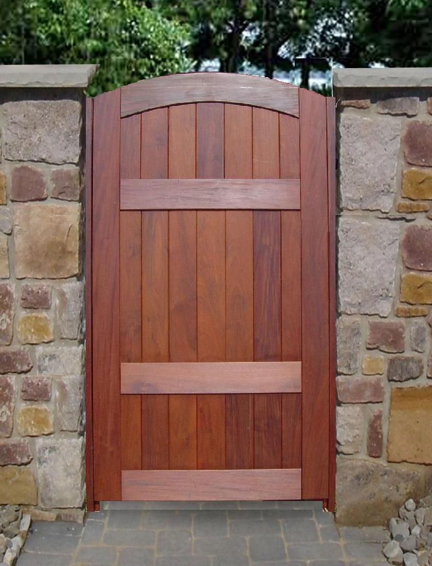 Fence gates wooden gate doors